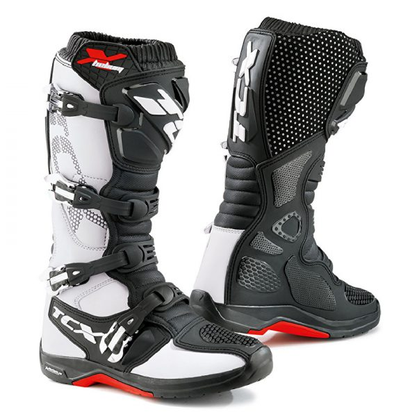 TCX X-Helium Michelin Boots - White/Black/Red colour