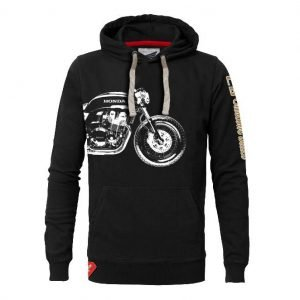 Honda Custom Built hoodie black, front - motorcycle clothing