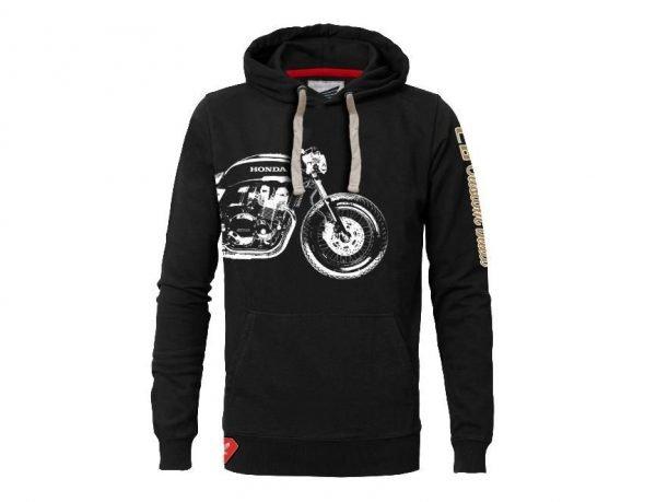 Honda Custom Built hoodie black, front - motorcycle clothing