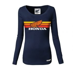 Honda long sleeves lady sunset t-shirt - front