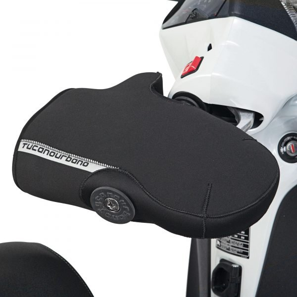R363X Tucano Urbano Streamlined Neoprene Handgrip Covers Black - side view, UK