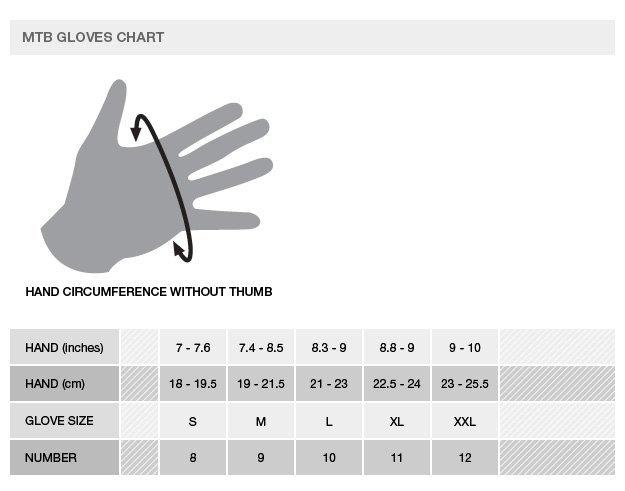 Alpinestars gloves size chart