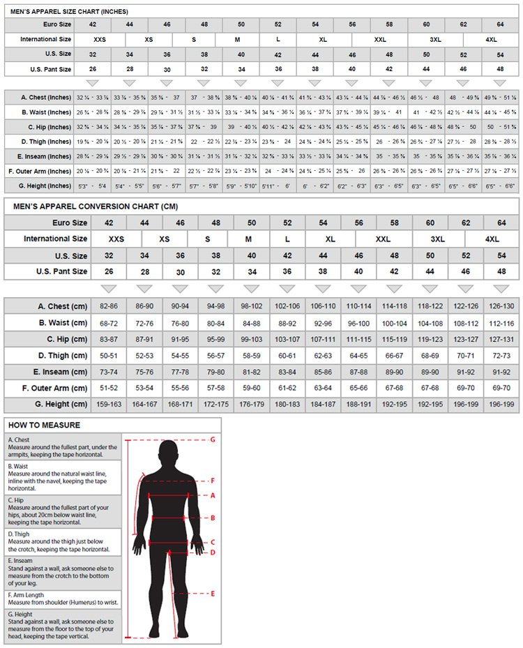Alpinestars Men size chart