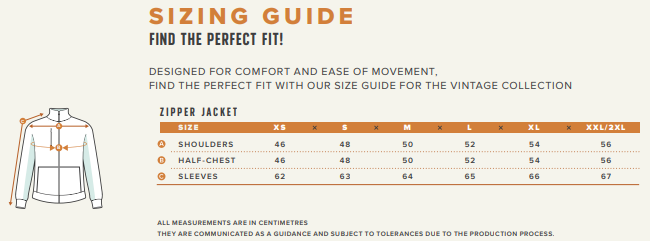 jacket sizing