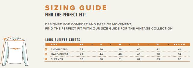 long t-shirt sizing