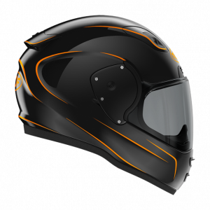 Roof RO200 helmet - Neon Black/Fluo Orange, Chelsea, London