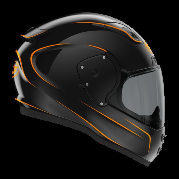 Roof RO200 helmet - Neon Black/Fluo Orange, Chelsea, London