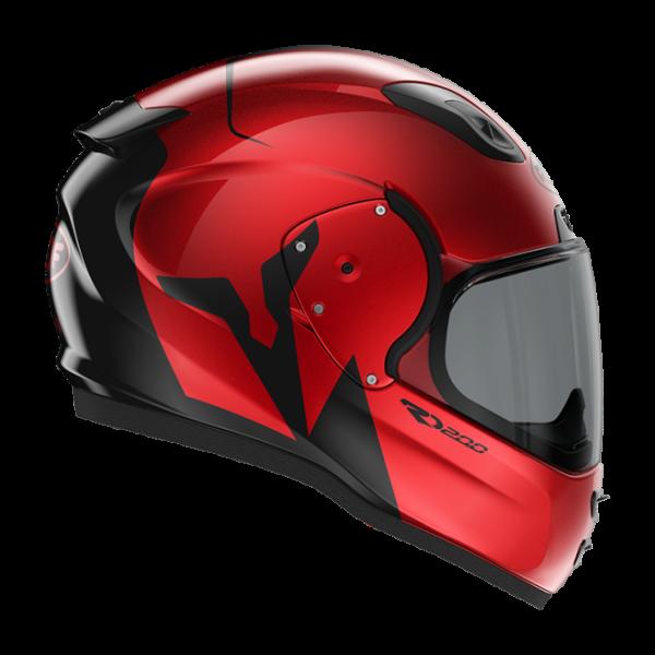 Roof RO200 helmet - Troyan Black Red colour, MCS Shop