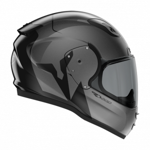 Roof RO200 helmet - Troyan Black/Steel, Motorbike Clothing Shop, Chelsea, London