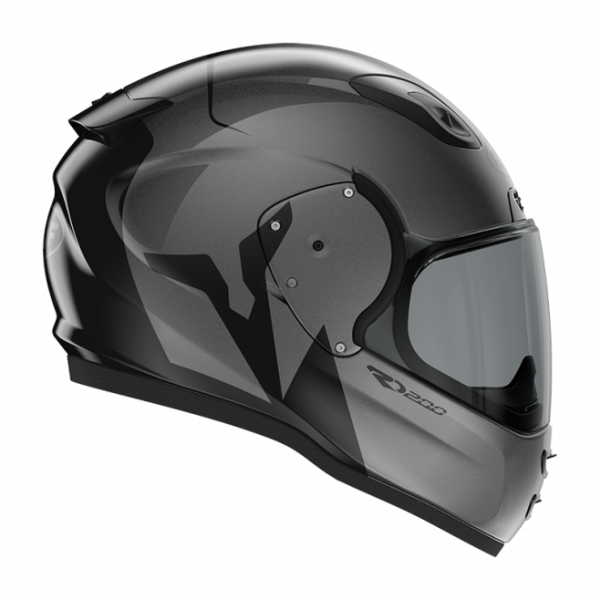 Roof RO200 helmet - Troyan Black/Steel, Motorbike Clothing Shop, Chelsea, London