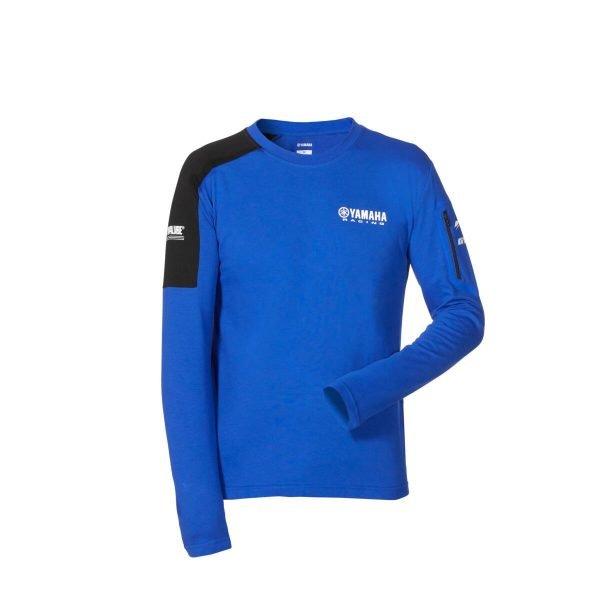 Yamaha Paddock Blue Men's Long-sleeved T-Shirt front