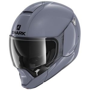 Shark EvoJet Blank Helmet - S01 Gloss Grey colour, Chelsea, London