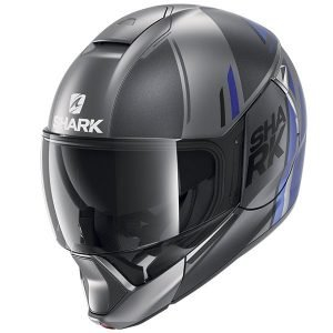 Shark EvoJet Helmet - Vyda Mat Anthracite/Blue/Black colour