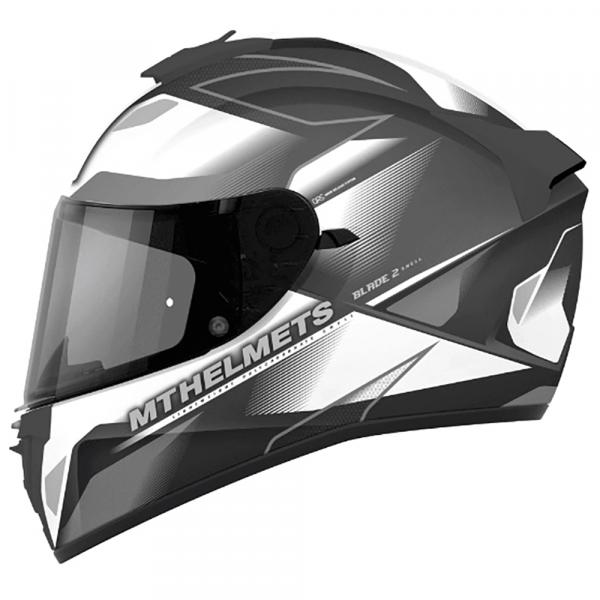 MT Blade 2 Helmet - Pearl White/Grey