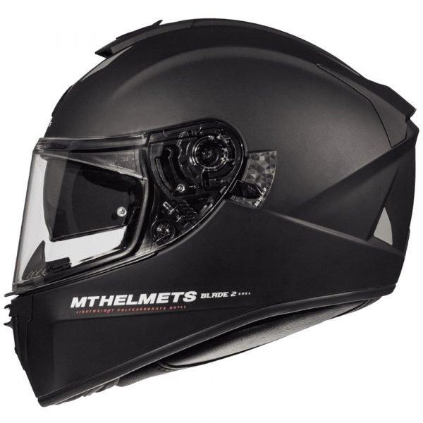 MT Blade 2 Helmet - Matt Black colour, MCS, UK