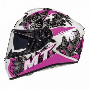 MT Blade 2 Helmet 2021 - Pearl White/Pink colour, CMG