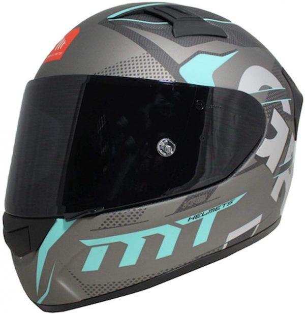 MT Gabri Carbon Motorcycle Helmet - Grey