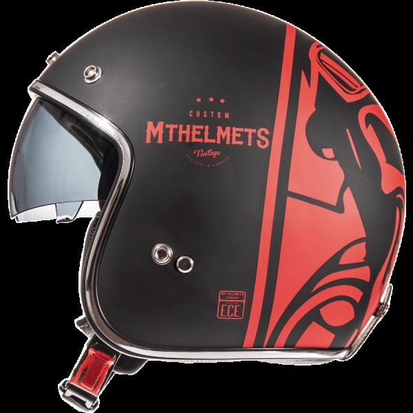 MT Le Mans 2 Divenire Helmet - Matt Black/Red colour