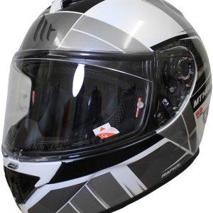MT Rapide Global Motorcycle Helmet - White/Grey/Black colour, London