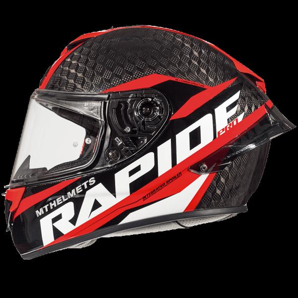 MT Rapide Pro Carbon Helmet - Red colour, Chelsea, London, UK