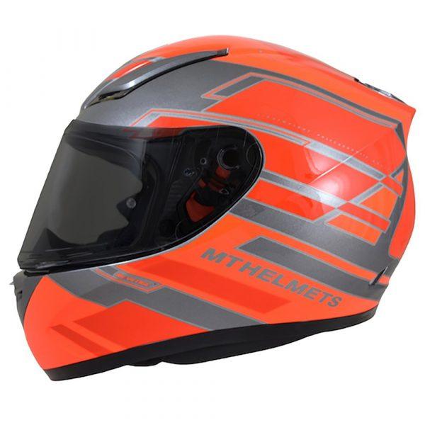 MT Revenge Zusa Helmet - Fluo Orange/Red colour