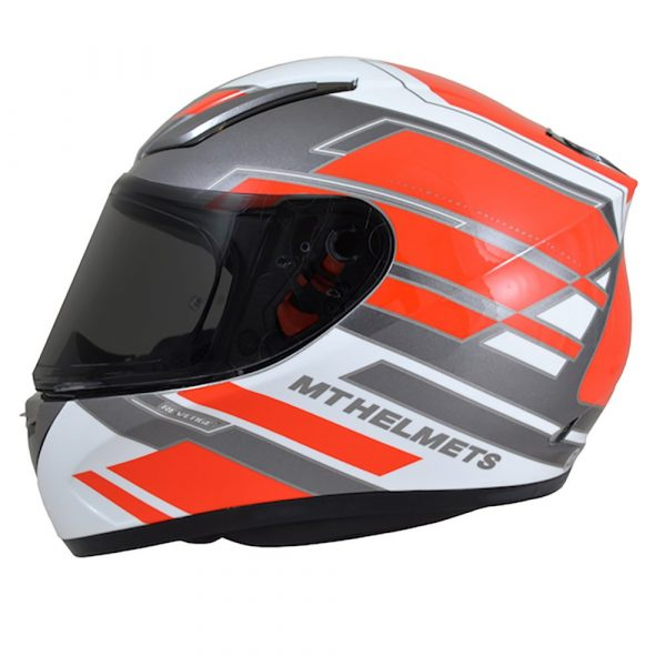 MT Revenge Zusa Helmet - Pearl White/Red colour, Motorbike Clothing Shop