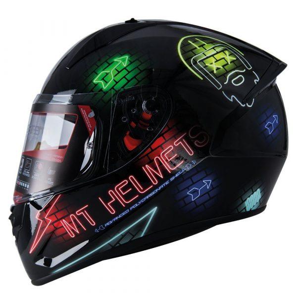 MT Stinger Neon Helmet 2021 - Black/Multi colour, Chelsea, London