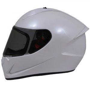 MT Stinger Helmet - Pearl White colour, Chelsea Motorbike Clothing Store