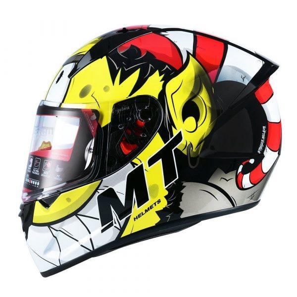 MT Stinger Melkor Helmet 2021 - Yellow/Red/White colour, UK