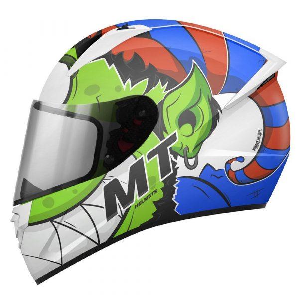 MT Stinger Melkor Helmet - Green/Orange/Blue colour