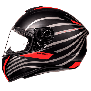MT Targo Doppler Helmet - Matt Black/Red colour, London, UK