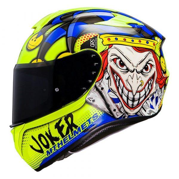 MT Targo Joker Helmet 2021 - Blue/Fluo Yellow colour - Chelsea, London, UK