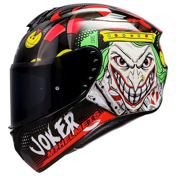 MT Targo Joker Helmet - Black/Red colour