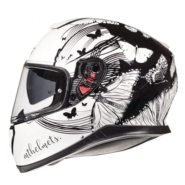 MT Thunder 3 Fractal Helmet 2021 - Pearl White/Black colour