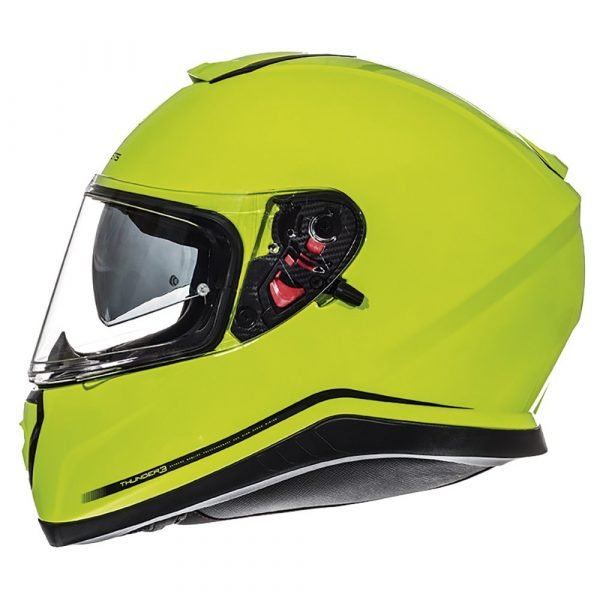 MT Thunder 3 Helmet - Fluo Yellow colour, Chelsea Motorcycles Shop, London