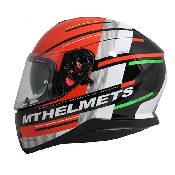 MT Thunder 3 Helmet - Green/White/Red colour, Chelsea, London