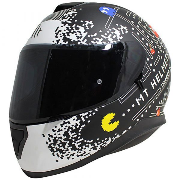 MT Thunder 3 One Helmet - Matt Black/White