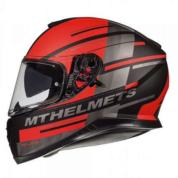 MT Thunder 3 Pitlane Helmet - Matt Black/Red colour, CMG Shop