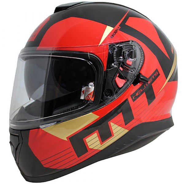 MT Thunder 3 Ray Helmet - Black/Red/Gold colour, Chelsea