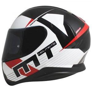 MT Thunder 3 Ray Helmet - Black/White/Red colour, UK