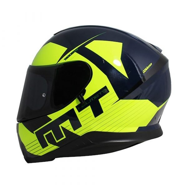 MT Thunder 3 Ray Helmet - Navy/Fluo Yellow
