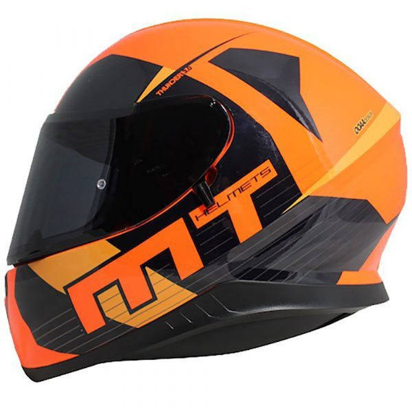 MT Thunder 3 Ray Helmet - Orange/Navy colour, Chelsea Motorbike Clothing