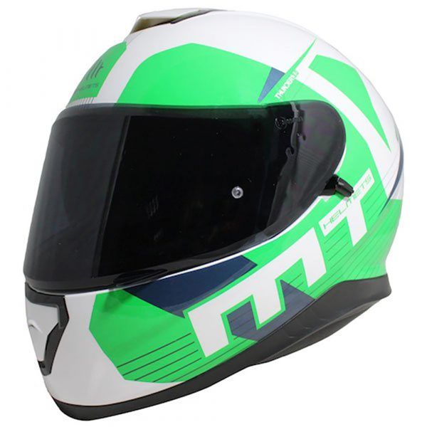MT Thunder 3 Ray Helmet - White/Green/Blue