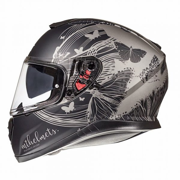 MT Thunder 3 Vlinder Helmet - Matt Grey/Black colour