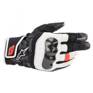 Alpinestars SMX Z Drystar Gloves – Black/White/Red Fluo colour, UK