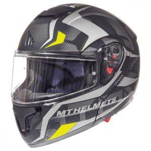 MT Atom SV Divergence Helmet - Matt Grey/Fluo Yellow colour, UK