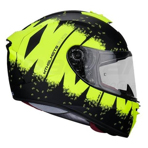 MT Blade 2 SV Oberon Helmet - Matt Black/Fluorescent Yellow colour, CMG