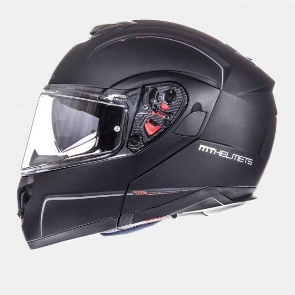 MT Atom Divergence Helmet - SV Solid Matt Black, London