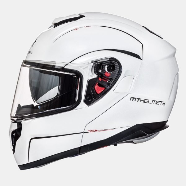 MT Atom Divergence Helmet - SV Solid White Gloss colour