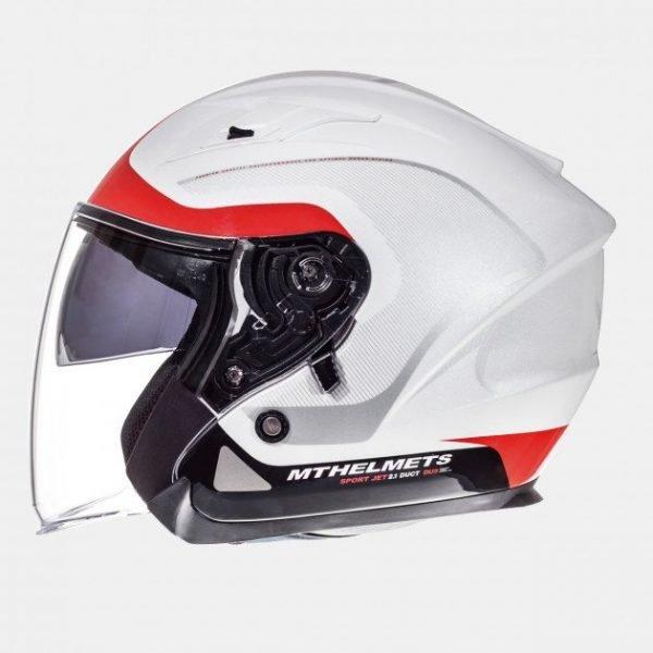 MT Avenue Jet Helmet - SV Solid White colour